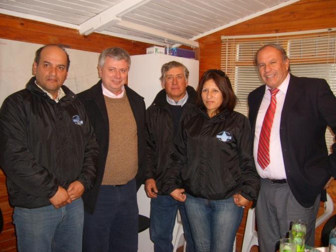Alcalde de Vicuña, Grte. RRHH CMSG y Directivos de APR
