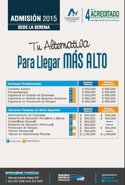 Oferta academica IPLA