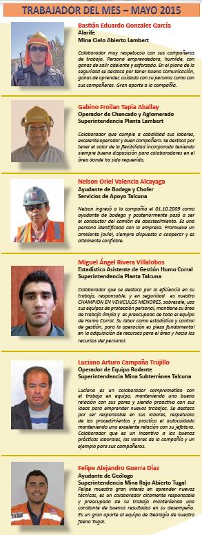 COLABORADORES DESTACADOS MAYO