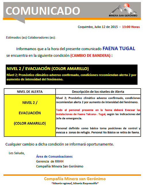 SEGUNDO COMUNICADO_ALERTA AMARILLA TUGAL