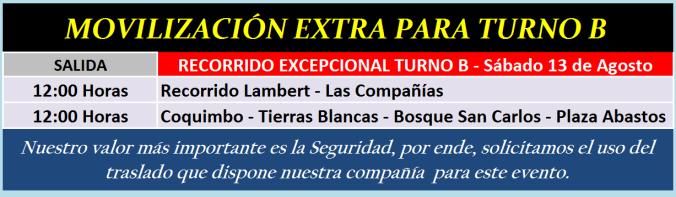 extra turno b