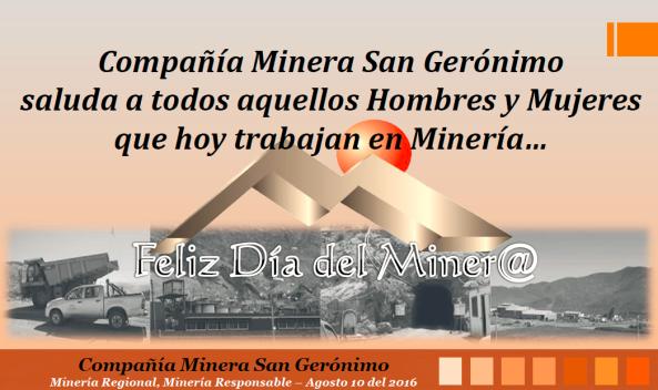 Saludo dia del minero general para redes