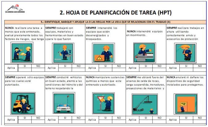 Planta Talcuna implementa el uso de HPT (Hojas de Planificación de ...
