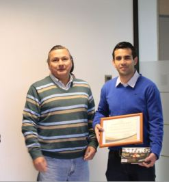 christian Kyonen junto a Jorge Ponce, Gerente de Sistemas CMSG.