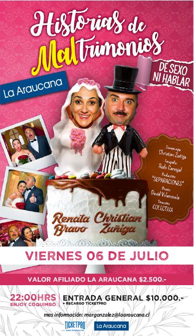 afiche obra la araucana MALTRIMONIOS
