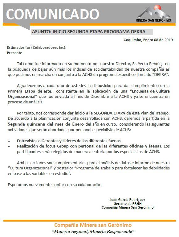 2019.comunicado - dekra segunda etapa
