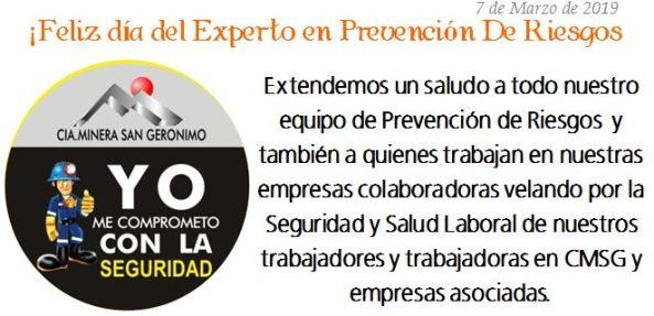 SALUDO_Dia del Experto en Prevención de Riesgos