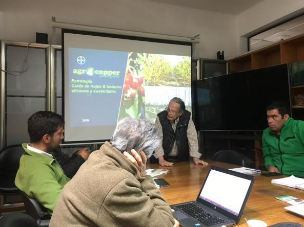 Reunión Ing. Agr. PhD Mario Álvarez con Copefrut - Curicó