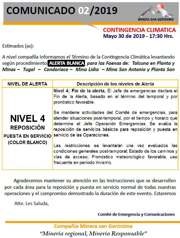 002. Fin Activacion Alerta