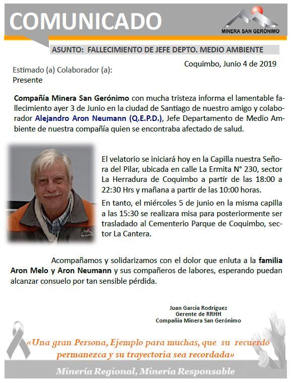 COMUNICADO_FALLECIMIENTO AARON